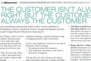 The Customer Isn't Always Right, But the Customer Is Always the Customer