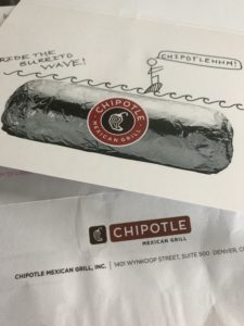 Chipotle gave great customer service